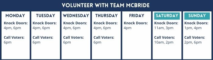 Volunteer with Team McBride